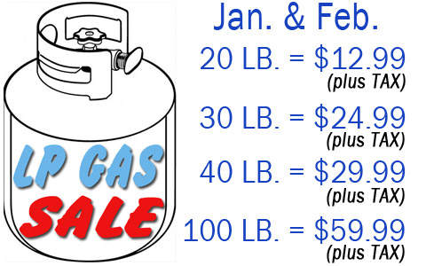 LP GAS SALE, JAN AND FEB