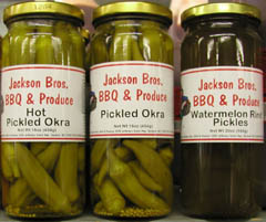 Pickled Okra, Hot Pickled Okra & Watermelon Rind Pickles